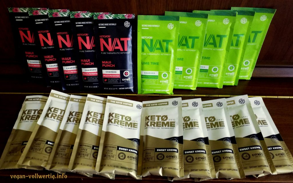 Keto OS Nat Lime und Maui Punch mit Koffein